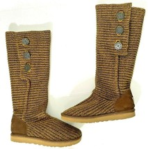UGG F3009E Women's Classic Cardy Brown Convertible Knit Boots - US Size ... - $69.99