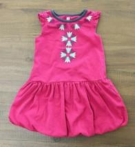 Tea Collection Toddler Sz 2 2T Dress Bubble Hem  Pink Tulip Floral Print... - $15.81