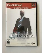 Hitman 2: Silent Assassin - (Sony Playstation 2, 2002) ~ TESTED WITH MANUAL - $4.89