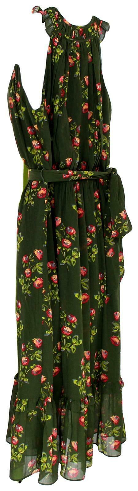 J Crew Women's Point Sur High-Neck Ruffle Floral Dress Chiffon 4 J5088 image 5
