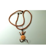 Necklace 24 Inches Autumn Colors Kumihimo Handmade Polymer Clay Mixed Me... - $39.99