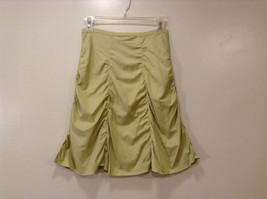 Annie Walwyn-Jones Custom Made Size S Light Green Jersey Gathered Pleated Skirt