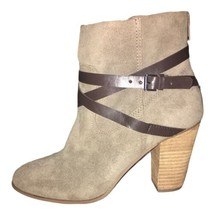 Carlos by Carlos Santana Womens Ankle Boots Miles Suede Almond Toe Doe, Size 9.5 - $49.50