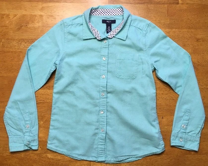 Gap Kids Girl's Teal Long Sleeve Dress Shirt - Size: Medium