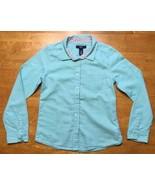 Gap Kids Girl's Teal Long Sleeve Dress Shirt - Size: Medium - $9.89