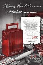 Admiral Vintage Radio Petite Portable RADIO Fishing 1948 AD - $12.99