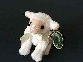 Bearington Lamb Mini Plush Sheep Stuffed Animal White Fleece 3635 Jointe... - $9.99