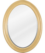 """23-3/4"""" x 31-1/2"""" Buttercream oval mirror with beveled glass - $207.25"""