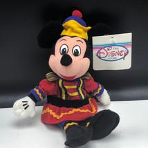 WALT DISNEY STORE PLUSH bean bag stuffed animal tag Mickey Mouse nutcracker xmas - $15.84
