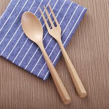 Solid Wood Cutlery Spoon Fork Disposable Handle Flatware Set Tableware P... - $164,38 MXN