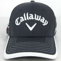 NEW ERA CALLAWAY ODYSSEY HEX BLACK TOUR GRAY & WHITE SEWN-ON TEXT GOLF H... - $25.48
