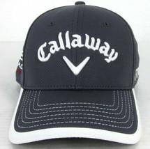 New Era Callaway Odyssey Hex Black Tour Gray & White SEWN-ON Text Golf Hat Cap - $25.48