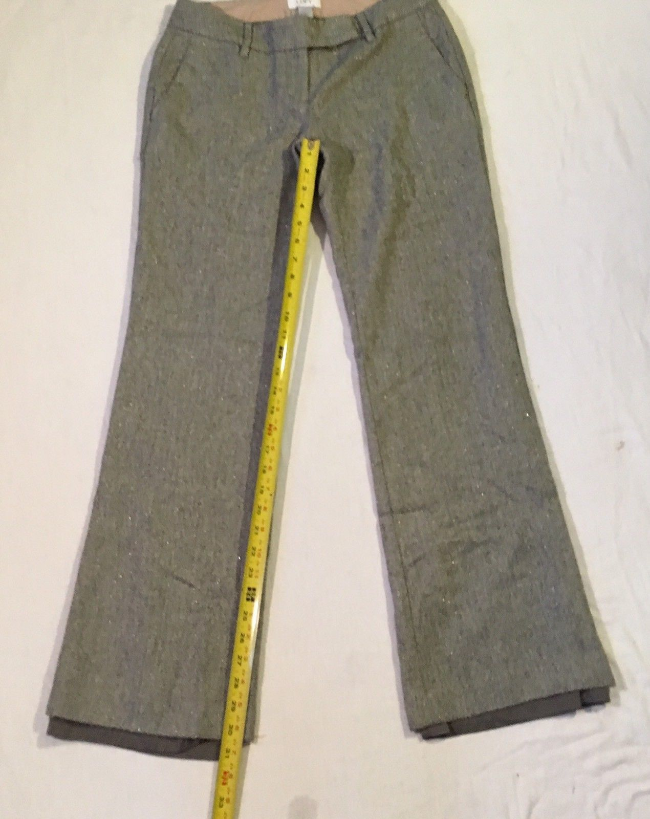 ef83a697710 Ann Taylor Loft Size 2 Pants Marisa Gray Textured Lined Flat Front Straight  Leg