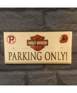 Harley Davidson Parking Only Plaque / Sign / Gift - No Parking Biker Mot... - $12.02