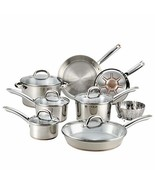 T-fal C836SD Ultimate Stainless Steel Copper Bottom 13 PC Cookware Set, ... - $193.99