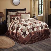 Abilene Star Bedding quilt sets~Vhc Brands Patchwork burgundy tan dark brown - $24.70+