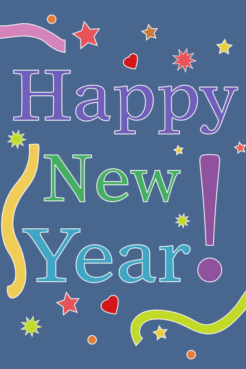 """HAPPY NEW YEAR Garden Flag, 12"""" X 18"""" Colorful Outdoor ..."""