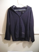DKNY JEANS womens full zip turtle neck sweater size large - $22.98