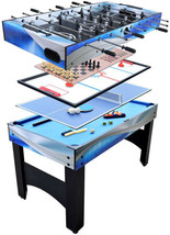 Hathaway Multi-Game Table 34 in. H x 54 in. L x 26 in. W Convertible (7-... - $297.07