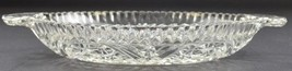 Vintage Anchor Hocking Glass Stars & Bars Clear Pattern 2 Part Relish Di... - $12.99
