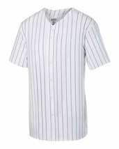 Augusta Sportswear Pinstripe Full Button Baseball Jersey - $27.35+