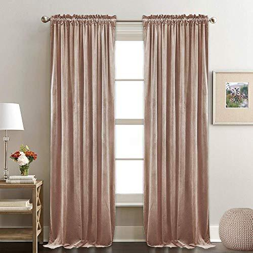 Ryb Home Velvet Winter Curtains Thermal Insulated Drapes