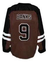 Connor Banks Mystery Alaska Movie Hockey Jersey New Brown Any Size image 4