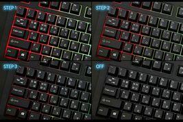 QSENN SEM-DT35SLED Korean English Gaming Keyboard USB Wired for PC image 3