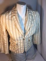 Express Woman Yellow Coat Long Sleeve Size 4 Made In China Bin70#18 - $14.03
