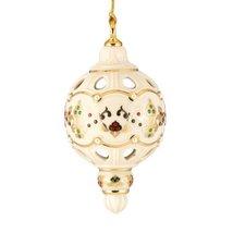 Lenox Inner Glow China Jeweled Globe, Christmas Ornament - $49.75