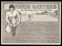 Paris Garter Ad 1911 Handsome Model Golf Course - $14.99