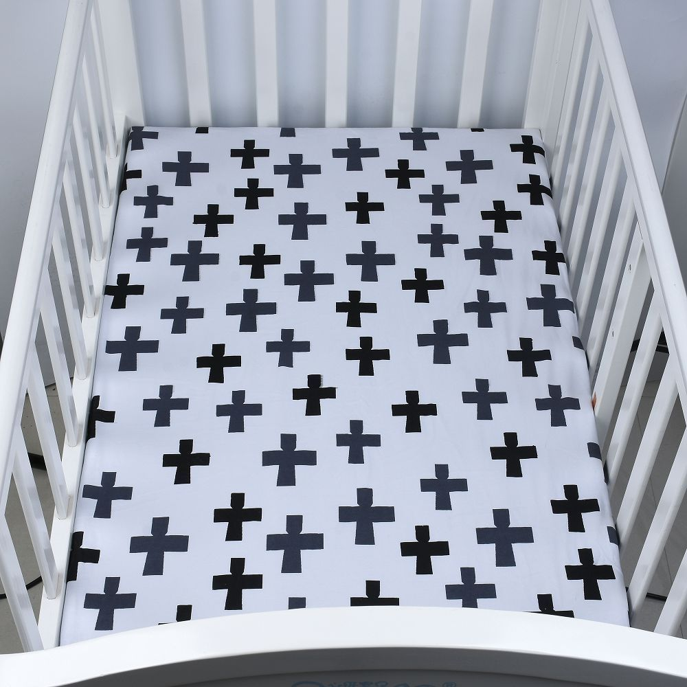 100% Cotton Crib Fitted Sheet Soft Baby Bed Mattress Cover
