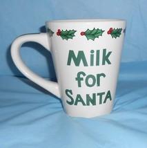 Christmas Milk for Santa Mug by Century 4.5 inch Tall x 3.75 inch Across... - $14.83