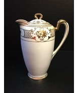 Antique Hand Painted Noritake NIPPON N730 Gold Encrusted Chocolate Pot M... - $78.39