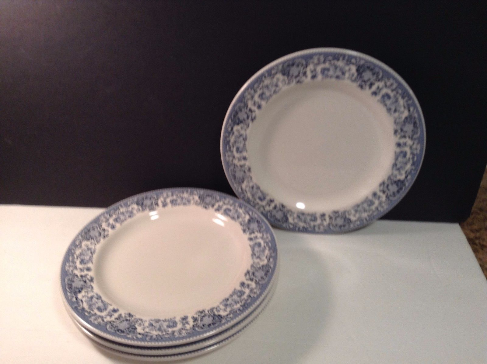 MSE Blue Floral Rim Dinner Plate Set of 4 Lovely Martha Stewart Everyday & MSE Blue Floral Rim Dinner Plate Set of 4 and similar items