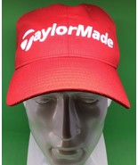 Red Authentic Taylormade Golf Burner Baseball Cap Tmax Hat Adjustable R1... - $12.20