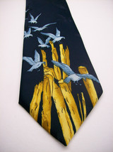Vtg WEMBLEY Blue  SEA GULLS  Mens 100  Necktie 413 6 - $39.99