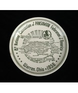 8th National Convention of Pansamian Federation of America 1956 Plate Wa... - $13.10