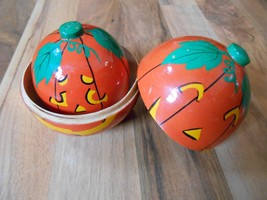 Halloween Nesting Pumpkins Jack o Lanterns maybe vintage w ghost Contain... - $44.99