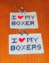 Brand New Handmade Needlepoint Sign I Love My BOXER BOXERS 4 Dog Rescue ... - $7.99