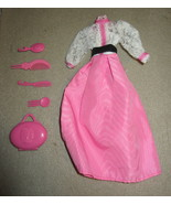 VINTAGE BARBIE ANGEL FACE DRESS AND ACCESSORIES - $23.70