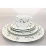 Block Spal 20 Pieces 4 Place Settings White Petunias Goertzen Watercolor... - $181.30