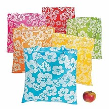 Reusable Hibiscus Tote Bags set of 12