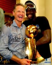 STEVE KERR Signed Warriors 2017 NBA Trophy with Draymond Green 8x10 Phot... - $64.69