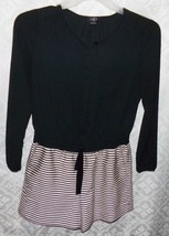 Ann Taylor Loft Petites 4P 4 Black White Short Suit Shorts Jumper Jumpsuit - $33.81