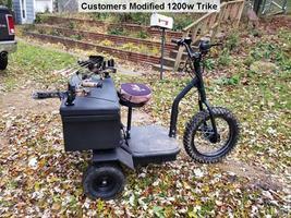 MotoTec Electric Trike 48v 1200w MT-TRK-1200 Scooter 3 Wheel Personal Transport image 8