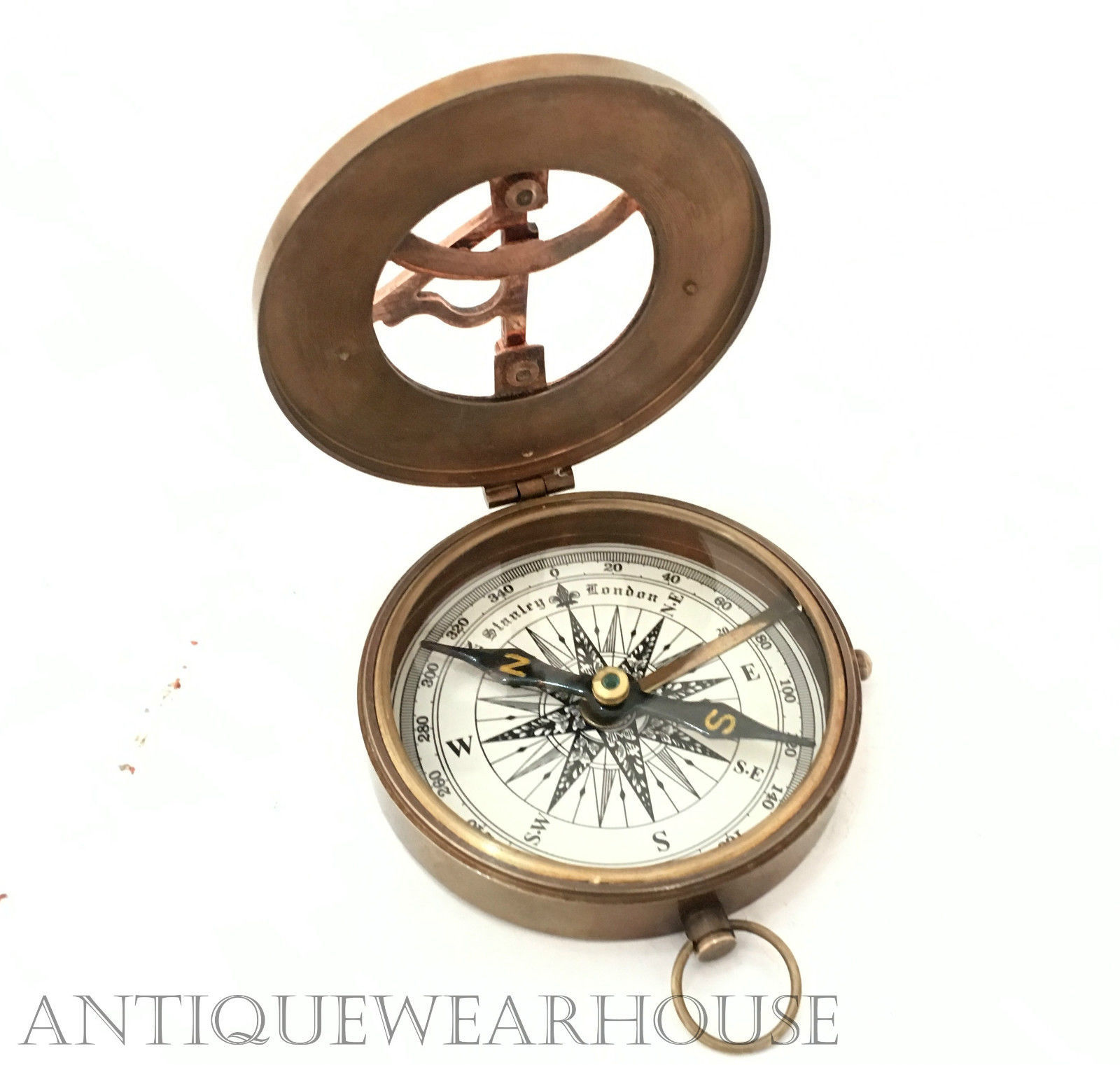 Nautical Brass Ship Navigation Compass Maritime Working Compass Royal Gift Item.
