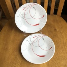 Corelle By Corning Splendor Dessert Bread & Butter Plate Red & Gray Swirls - $14.85