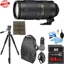Nikon AF-S NIKKOR 80-400mm f/4.5-5.6G ED VR w/ 64GB MC|C.K |Tripod |Bag|... - $2,206.71