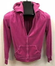 Old Navy Intimates Womens Size XS Pink Velour Hoodie Sweatshirt - $6.92